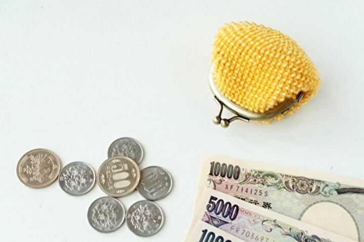 お財布と小銭とお札